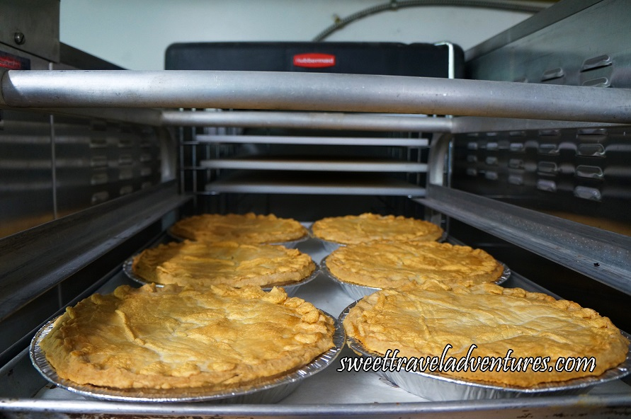 A Tray of Pearson's Berry Farm's Pies Cooling in the Kitchen of Pearson's Berry Farm